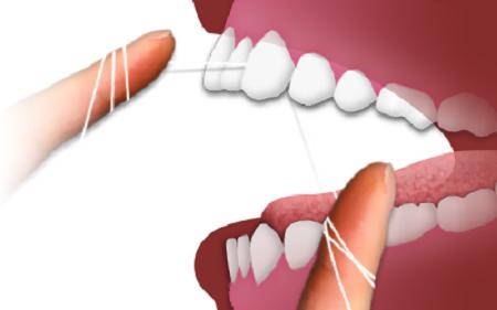 اهمیت کشیدن نخ دندان
