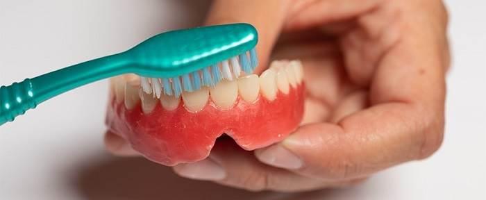دستورالعمل تمیز کردن دندان مصنوعی